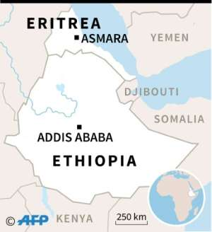 Map of Ethiopia and Eritrea.  By Kun TIAN (AFP)