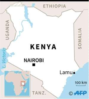 Map of Kenya locating the town of Lamu, where militants attacked a US military base.  By AFP (AFP)