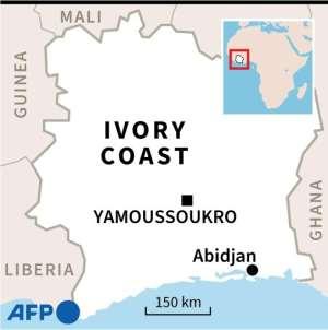 Map of Ivory Coast.  By Laurence SAUBADU (AFP)