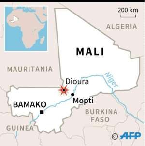 Map of Mali locating attack on Dioura army base in Mopti region. By (AFP)
