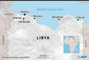 Map of northern Libya. By Vincent LEFAI (AFP)