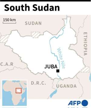 Map of South Sudan.  By  (AFP)