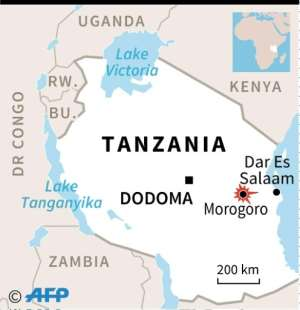 Map of Tanzania locating Morogoro.  By  (AFP)