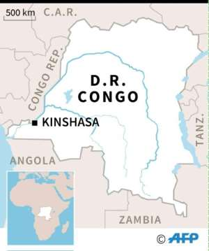 Map of the Democratic Republic of Congo.  By Paul DEFOSSEUX (AFP)