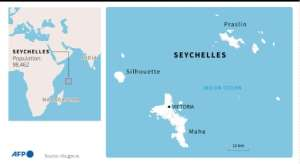 Map of the Seychelles.  By  (AFP)