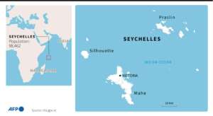 Map of the Seychelles, population around 98,000.  By  (AFP)