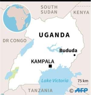 Map of Uganda locating Bududa district.  By  (AFP)