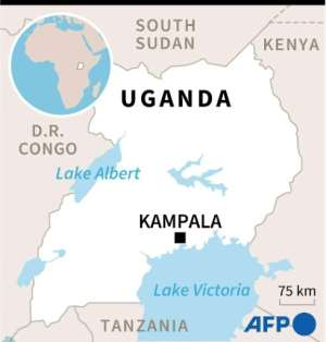Map of Uganda where presidential elections will be held on January 14..  By  (AFP)