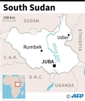 Map locating map areas in South Sudan.  By  (AFP)