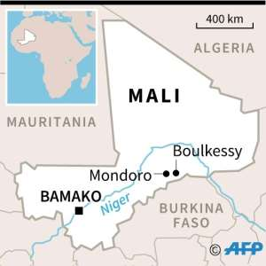 Map locating Mali flashpoints.  By  (AFP)