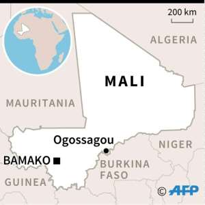 Map locating massacre in Ogossagou. By (AFP)
