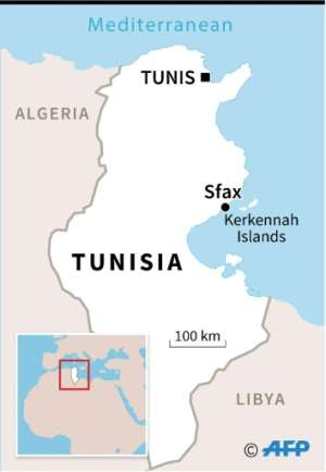 Map locating Sfax.  By  (AFP)
