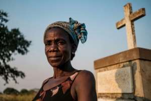 Margaret Labol, 50, lost 15 family members and her husband, a Ugandan soldier, during the Lukodi massacre.  By Sumy Sadurni (AFP)