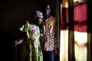 Maurice, 35, and his wife Esperance both contract Ebola. He now heads the Ebola survivors association.  By JOHN WESSELS (AFP)