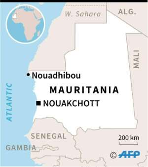 Map of Mauritania locating Nouadhibou where survivors were being treated in hospital after more than 50 migrants drowned when their boat sank off the coast.  By  (AFP)