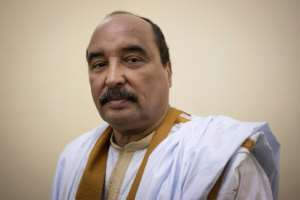 Mauritanian President Mohamed Ould Abdel Aziz called for a rally against hate speech after online disputes between the country's ethnic groups.  By THOMAS SAMSON (AFP/File)