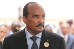Mauritania's President Mohamed Ould Abdel Aziz faces a test in a range of elections on September 1, but has said that he will not stand in a presidential poll next year..  By Ludovic MARIN (POOL/AFP/File)