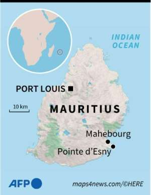 Map locating the island of Mauritius..  By Anne-Sophie THILL (AFP)