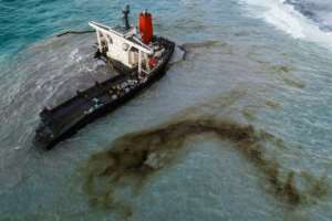 Mauritius declared an environmental emergency and salvage crews raced against the clock to pump the remaining 3,000 tonnes of oil off the ship.  By STRINGER (AFP)