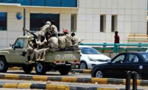 Members of Sudan's security forces patrol patrol the streets of Khartoum on June 6, 2019 after a deadly crackdown on a rally in the capital.  By - (AFP)