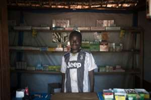 Medicines at the camp pharmacy in Zapai are in chronically short supply.  By FLORENT VERGNES (AFP)