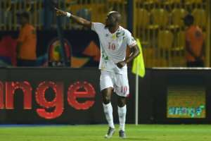 Mickael Pote celebrates his second goal for Benin in a 2-2 Africa Cup of Nations draw with Ghana.  By OZAN KOSE (AFP)