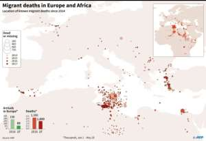 Migrant deaths in Europe and Africa