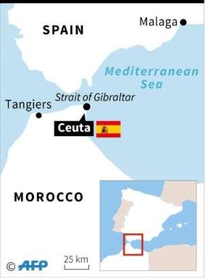 Migrants flood into Spanish Ceuta