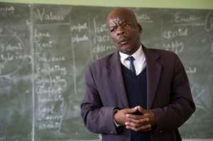 Milton Changwa's township students have no tablet computers. By RODGER BOSCH (AFP)