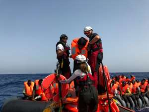 Mild Mediterranean has increased the number of people trying to make their way to Europe from Africa.  By Anne CHAON (AFP)