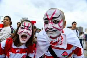 Millions of Japanese fans will tune in for the quarter-final against South Africa.  By Kazuhiro NOGI (AFP)