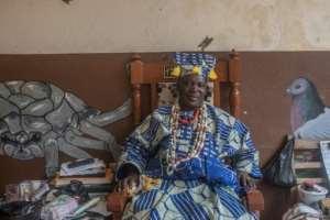 Mito Akplogan Guin, voodoo's supreme leader in Porto-Novo.  By Yanick Folly (AFP)