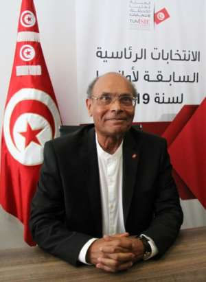 Moncef Marzouki was installed as president by Ennahdha after the 2011 revolution and oversaw Tunisia's transition to democracy.  By HASNA (AFP/File)