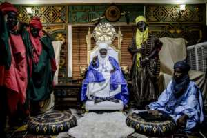 Mohammed Abubakar Bambado, the Sarkin Fulani of Lagos. Bambado is a 49-year-old businessman with a port handling firm in Nigeria's economic metropolis. He also has the title of the city's Fulani king, dispensing advice and help to his subjects.  By Luis TATO (AFP)