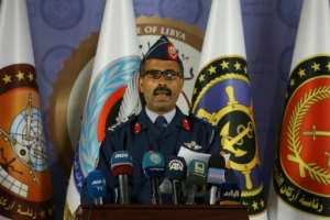 Mohamed Gnounou, spokesman of Libya pro-government forces, announces the launch of a