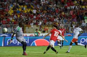Mohamed Salah had an eventful evening as Egypt thrashed Niger in Alexandria.  By Khaled DESOUKI (AFP)