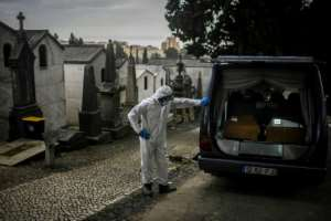 More than 2.5 million have died from the virus and European countries like Portugal are among the hardest hit.  By PATRICIA DE MELO MOREIRA (AFP)