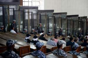 More than 700 people were on trial at the Cairo Criminal Court.  By Mohamed el-Shahed (AFP)