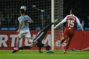 Moroccan Youssef En-Nesyri scored for Sevilla at Vigo.  By MIGUEL RIOPA (AFP)