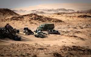 Marokko startete am 13. November eine Militäroperation in der Pufferzone von Guerguerat im äußersten Süden der Westsahara, um eine Gruppe sahrawischer MilitantInnen zu vertreiben, die eine Transitroute ins benachbarte Mauretanien blockierten.  Von Fadel SENNA (AFP / Datei)