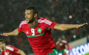 Morocco's Ayoub el-Kaabi completed his record-extending goal haul by firing into the net from close range.  By Fadel SENNA (AFP/File)