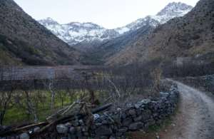 Mountains near the tourist village of Imlil in the High Atlas range, where the two Scandinavian hikers were murdered in December last year.  By FADEL SENNA (AFP/File)