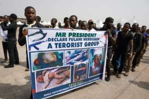 Mourners at the funeral in Makurdi on January 11 displayed their anger