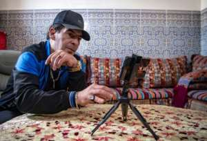 Moustadraf is one of around 20 Moroccan ex-prisoners who have notched up millions of views on YouTube.  By FADEL SENNA (AFP)