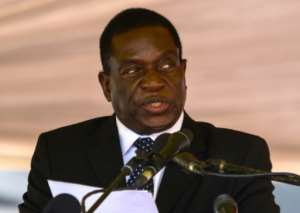 Mnangagwa, seen here at a funeral ceremony in January, fled the country after being sacked by Mugabe. The 75-year-old -- whose nickname is 'The Crocodile' -- has strong connections with the military and veterans of Zimbabwe's independence war