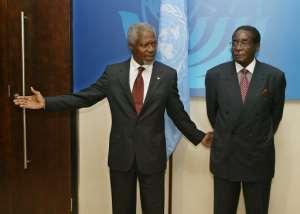 Mugabe always blamed Western sanctions for Zimbabwe's economic collapse.  By PHILIPPE DESMAZES (AFP/File)