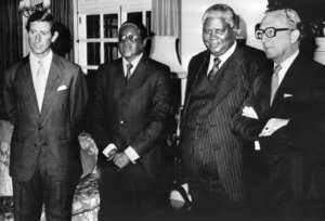 Mugabe, seen here with Prince Charles a day before Zimbabwe's independence, was lauded as a liberation hero in the beginning.  By - (UPI/AFP)