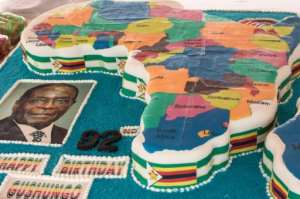 Mugabe's birthday cake in 2016 was in the shape of a map of Africa
