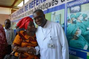 Mukwege lives at the hospital under permanent protection of UN peacekeepers.  By Alain WANDIMOYI (AFP)