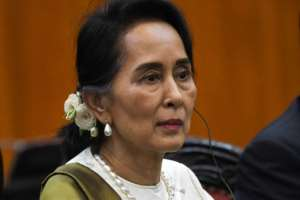 Myanmar state counsellor Aung San Suu Kyi's party won an emphatic victory during elections in 2015, propelling her to power.  By Roslan RAHMAN (AFP/File)